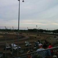 Photo taken at Belleville Highbanks Raceway by Justin L. on 8/3/2014