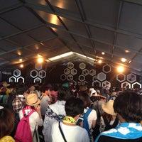 Photo taken at EARTH TENT (RISING SUN ROCKFESTIVAL) by Hirofumi O. on 8/15/2014