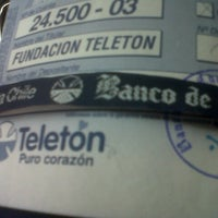 Photo taken at Banco de Chile by Coni G. on 12/1/2012