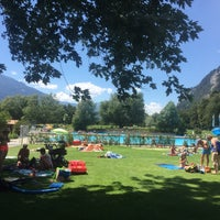 Photo taken at Freibad Obere Au by Gamze on 7/13/2018