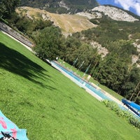 Photo taken at Freibad Obere Au by Gamze on 9/5/2018
