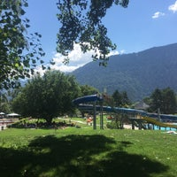 Photo taken at Freibad Obere Au by Gamze on 7/24/2018