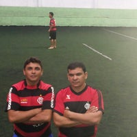 Photo taken at Hamilka Arena Soccer by Admilson R. on 4/13/2014