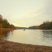 Photo taken at Hundestrand Grunewaldsee by B.C. R. on 11/12/2013