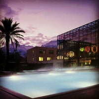 Photo taken at Therme Meran / Terme di Merano by Isolde A. on 2/13/2013