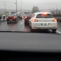 Photo taken at Halıcıoğlu Metrobüs Durağı by Pln .. on 3/9/2014