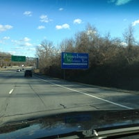 Photo taken at Delaware / Pennsylvania State Border by BAH on 1/31/2013