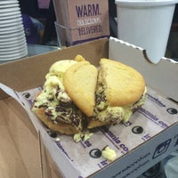Photo taken at Insomnia Cookies by Esther C. on 12/14/2015