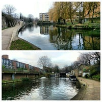 Photo taken at Old Ford Lock (Regent's Canal) by Gurjeet S. on 1/5/2013