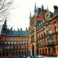 Photo taken at London St Pancras International Railway Station (STP) by Gurjeet S. on 1/16/2013