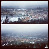 Photo taken at Petřín Lookout Tower by Gurjeet S. on 2/18/2013