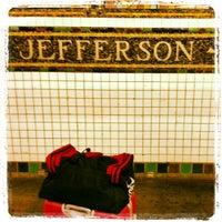 Photo taken at MTA Subway - Jefferson St (L) by Gurjeet S. on 11/24/2012