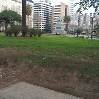 Photo taken at Plaza San Martín by Polo L. on 7/30/2014