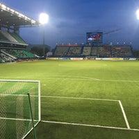 Photo taken at Leo Stadium by Chotiwat M. on 8/5/2017