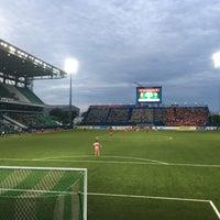 Photo taken at Leo Stadium by Chotiwat M. on 9/17/2017