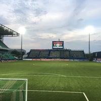 Photo taken at Leo Stadium by Chotiwat M. on 10/14/2017
