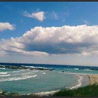 Photo taken at Lido di Otranto by Laura P. on 4/10/2014