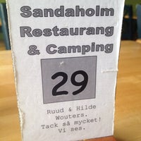 Photo taken at Sandaholms Restaurang o Camping by Matthijs V. on 6/29/2014