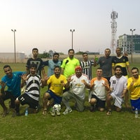 Photo taken at Rusayl Football Ground by Harith A. on 9/1/2015