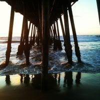 Photo taken at Imperial Beach Pier by mitzanator on 12/28/2012