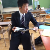 Photo taken at 熊取北中学校 by 真 関. on 5/27/2014