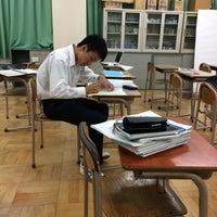 Photo taken at 熊取北中学校 by 真 関. on 6/17/2014