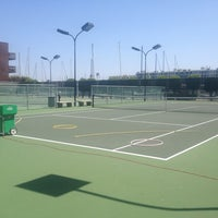 Photo taken at Mariners Bay Tennis Courts by Louise H. on 8/11/2013