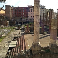 Photo taken at Largo di Torre Argentina by 05 Y. on 3/3/2013
