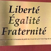 Photo taken at Lycée français de Sofia Victor Hugo by Ivan I. on 8/18/2017