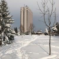 Photo taken at Градинката пред хотел Маринела by Ivan I. on 2/28/2018