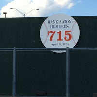 Photo taken at Hank Aaron 715 Home Run Marker by Andrew M. on 4/26/2016