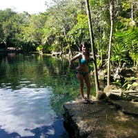 Photo taken at Cenote Chikin Ha by Marisol D. on 1/15/2015