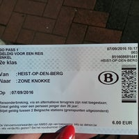 Photo taken at Station Heist-op-den-Berg by Hanne G. on 9/7/2016