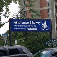 Photo taken at Minuteman Commuter Bikeway by Mark D. on 8/9/2015