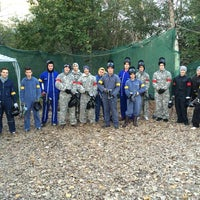 Photo taken at Pannon Paintball by Diána K. on 10/27/2014