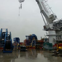 Photo taken at Loyang Offshore Supply Base Jetty by Denmark M. on 4/19/2014