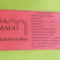 Photo taken at Casa Mago Restaurante Bar by Guadalupe J. on 3/15/2015