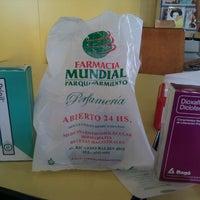 Photo taken at Farmacia Mundial Parque Sarmiento by Mauro Emiliano F. on 2/23/2013