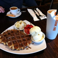 Photo taken at Max Brenner Chocolate Bar by Fibi S L. on 3/1/2013