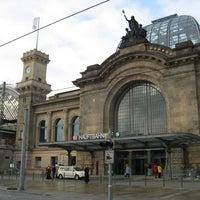 Photo taken at Bahnhof Dresden-Friedrichstadt by Junaid A. on 5/26/2014
