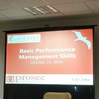 Photo taken at Solaire Training Room by rintintin r. on 10/23/2014