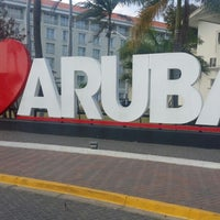 """Photo taken at """"I Love Aruba"""" Sign by Shawn S. on 3/23/2014"""