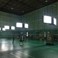 Photo taken at Tobacco Badminton Court by Werasak S. on 6/11/2016