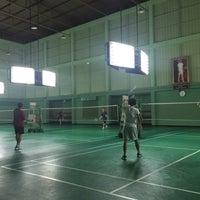 Photo taken at Tobacco Badminton Court by Werasak S. on 9/17/2016