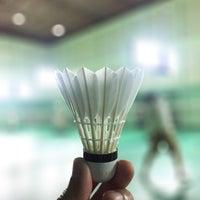 Photo taken at Tobacco Badminton Court by Werasak S. on 2/18/2017
