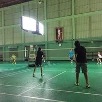 Photo taken at Tobacco Badminton Court by Werasak S. on 5/13/2017