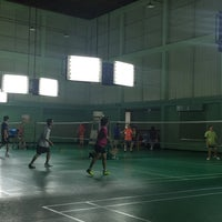 Photo taken at Tobacco Badminton Court by Werasak S. on 10/3/2015
