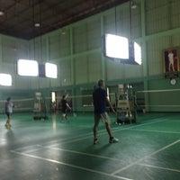 Photo taken at Tobacco Badminton Court by Werasak S. on 2/25/2017
