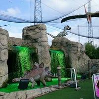 The Orange Dinosaur Looked Over Traffic At Route 1 Miniature Golf In Saugus