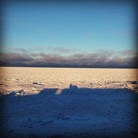 Photo taken at Hudson Bay Beach by Kevan D. on 11/12/2014